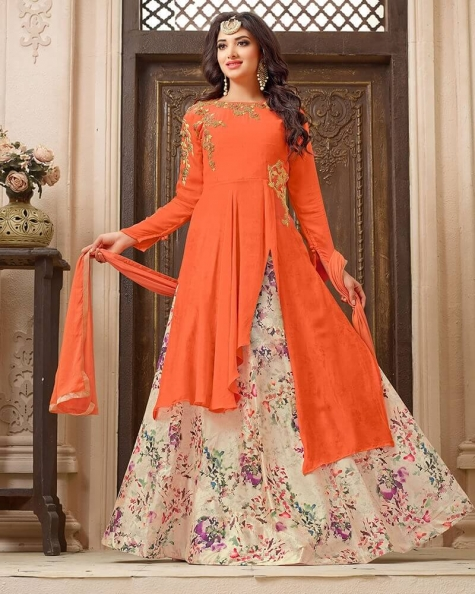 Elegant Embroidered Designer Georgette Salwar Suit