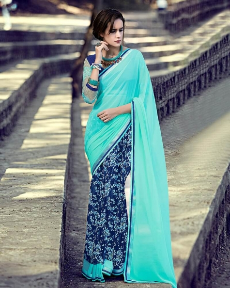 Classic Partywear Georgette Designer Fancy Saree