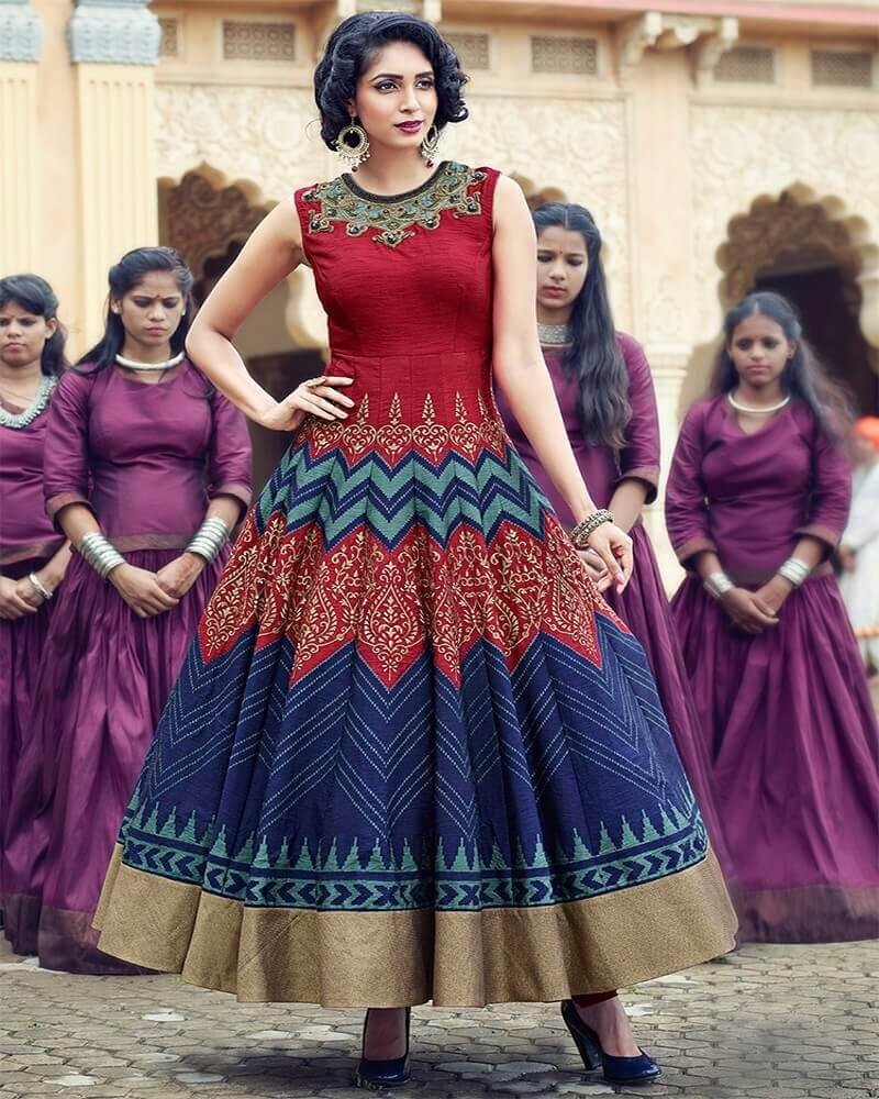 Beguiling Designer Multicolor Banglori Silk Partywear Suit