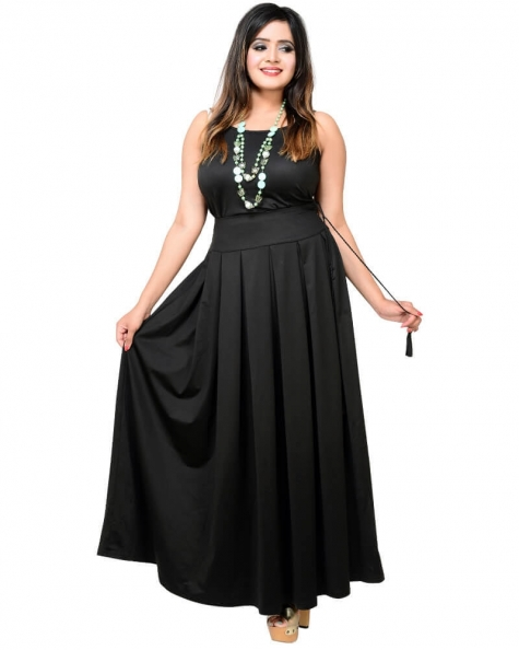 Super Hot Pleated Black Skirt
