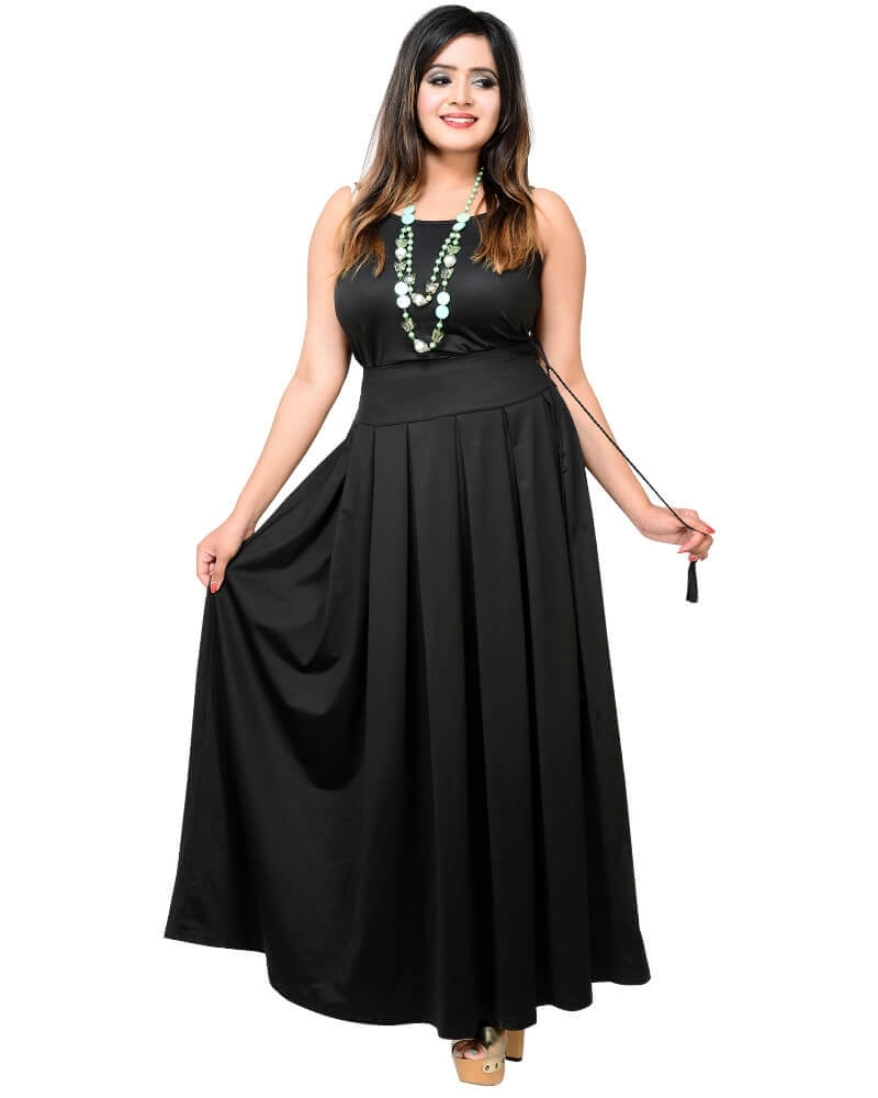 Super Hot Pleated Black Skirt