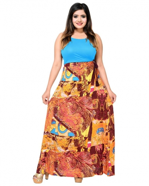 Gorgeous Multicolored Print Tussel Skirt