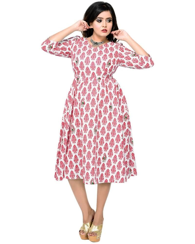 Fancy Printed Cotton Dress