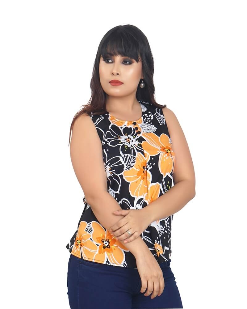 FLORAL SUNFLOWER PRINTED TOP