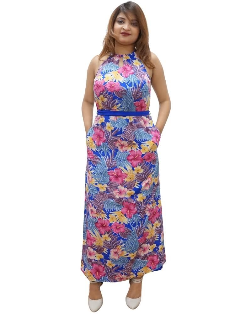 Sexy Floral Print Maxi Dress