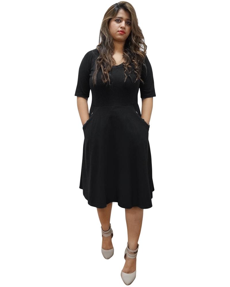 Mid-length adorable Little Black Dress