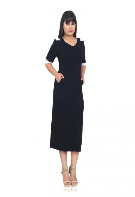 PLUSH BLACK DRESS