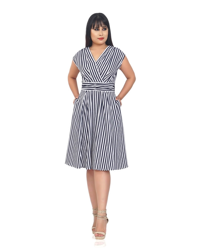 NINA STRIPED DRESS