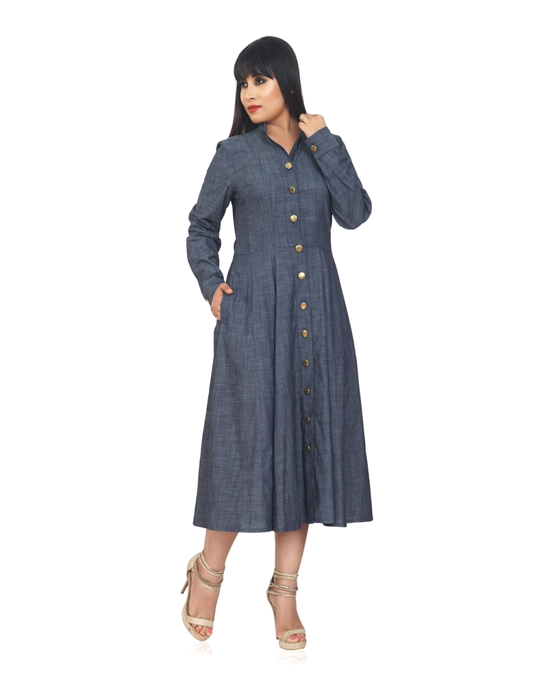 GOLDEN GIRL CHAMBRAY DRESS