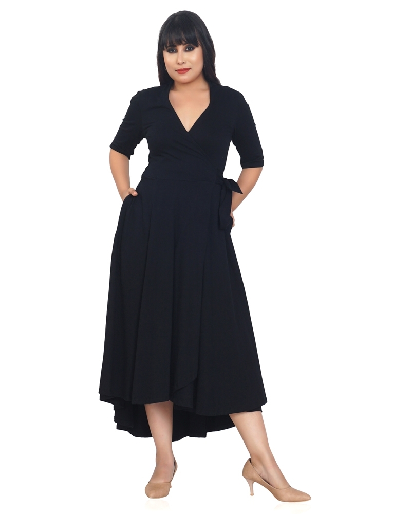 Black Long Jersey Dress
