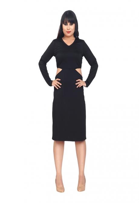 BLACK ALLURING DRESS