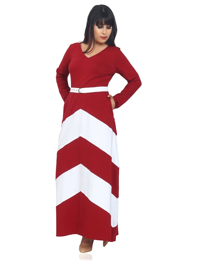 SUNNY COLOR BLOCK MAXI