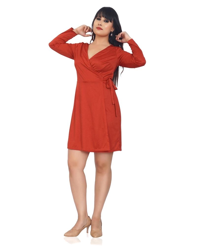 GLOSSY SHORT DRESS