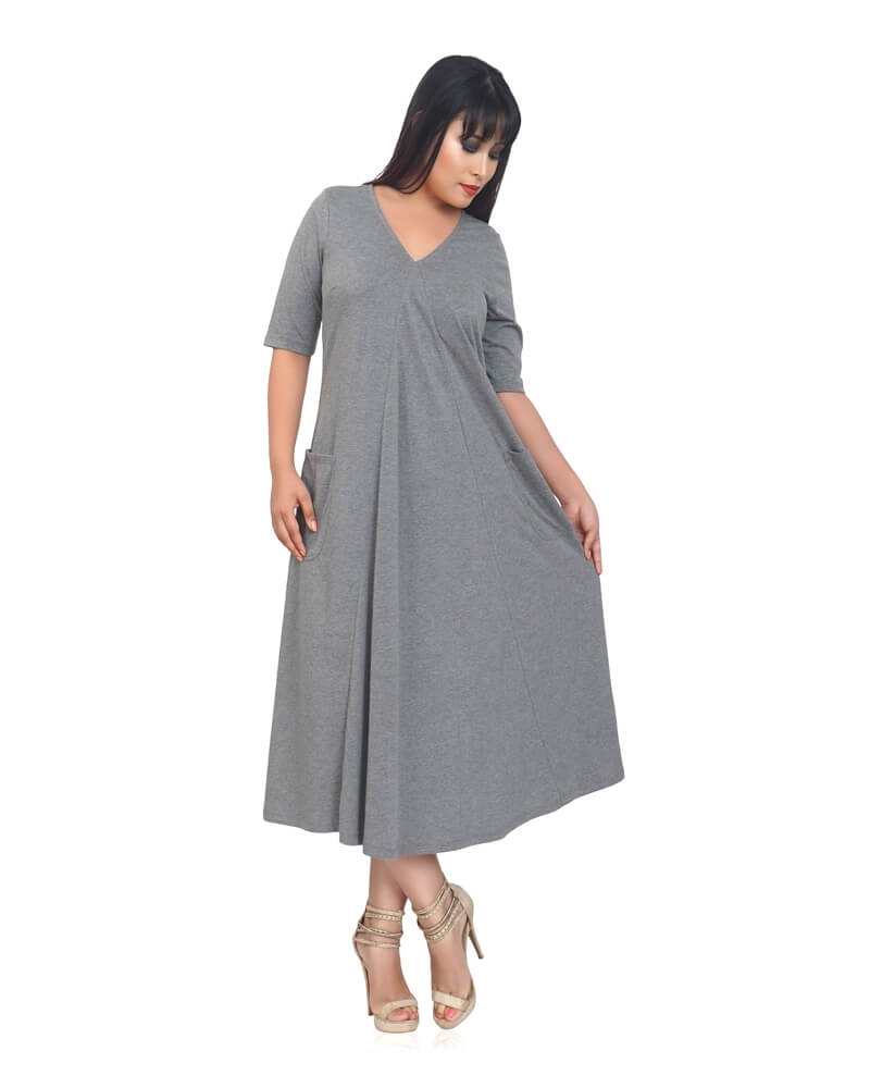 BEAUTIFUL GREY MAXI DRESS