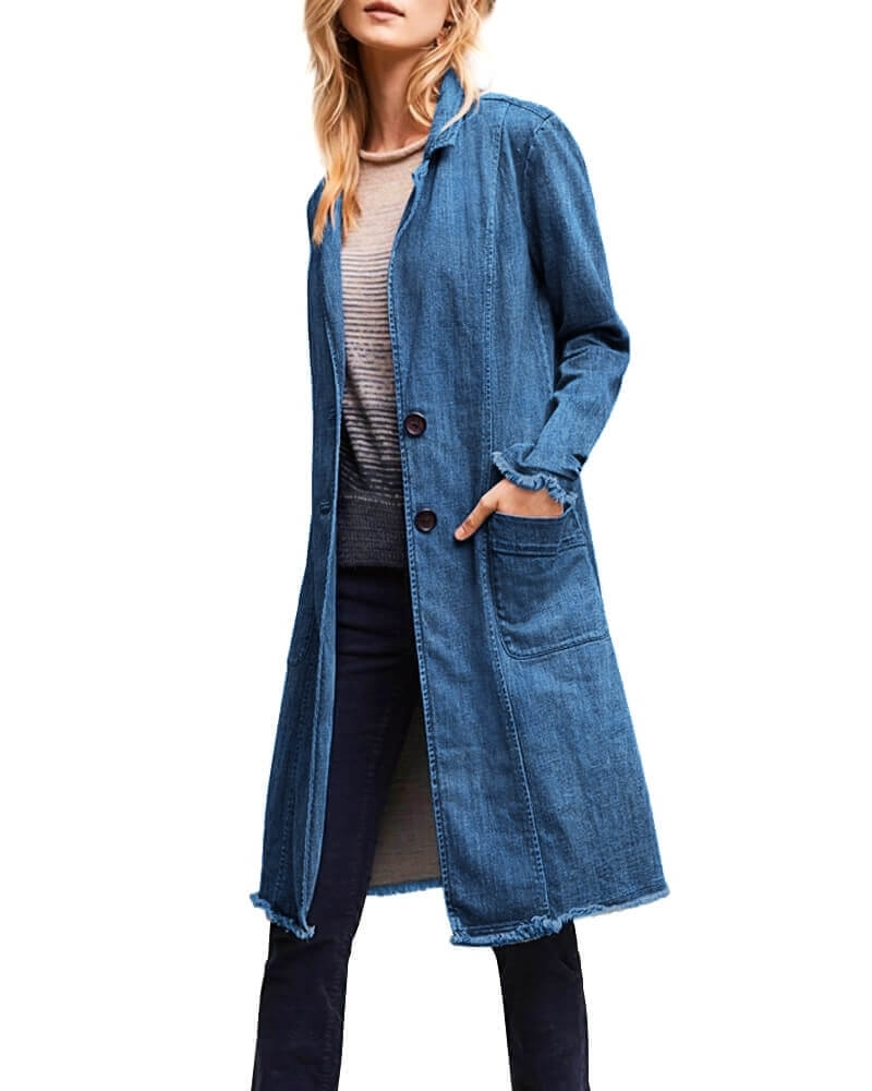 Voguish Denim Long Jacket