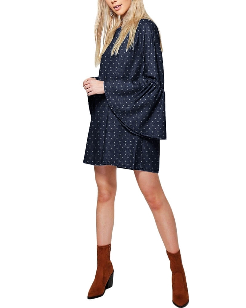 Drusilla bell sleeves Denim dress