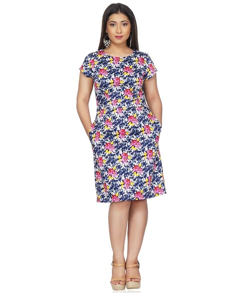 Floral Print Slim Fit Dress