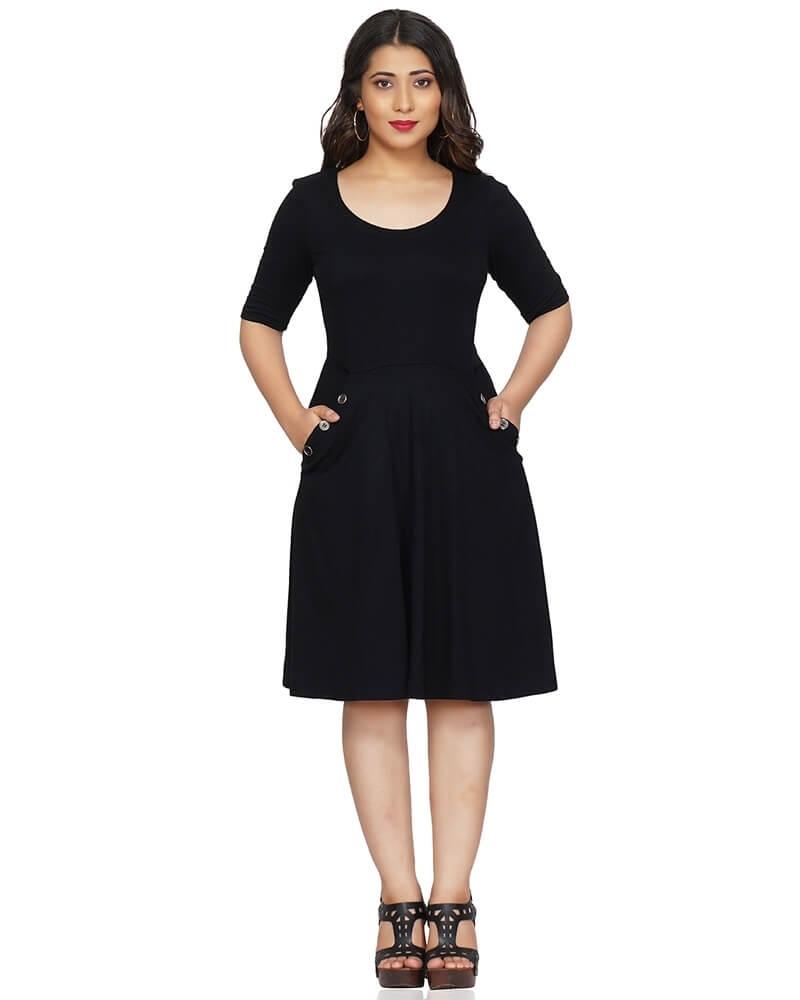 Mid length adorable Little Black Dress