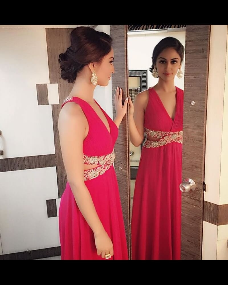 Krystle Dsouza Evening Rose-Pink Gown