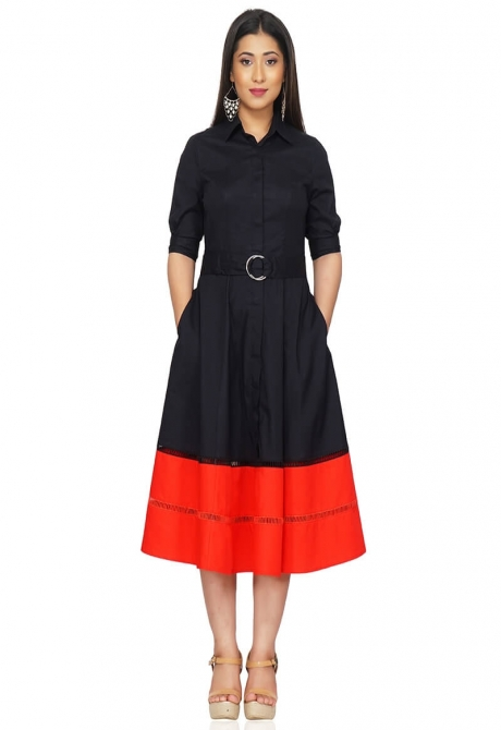 Black and Red Smart Dress