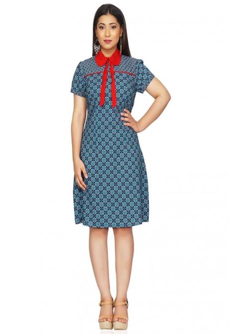 Short and Cute Print Dress