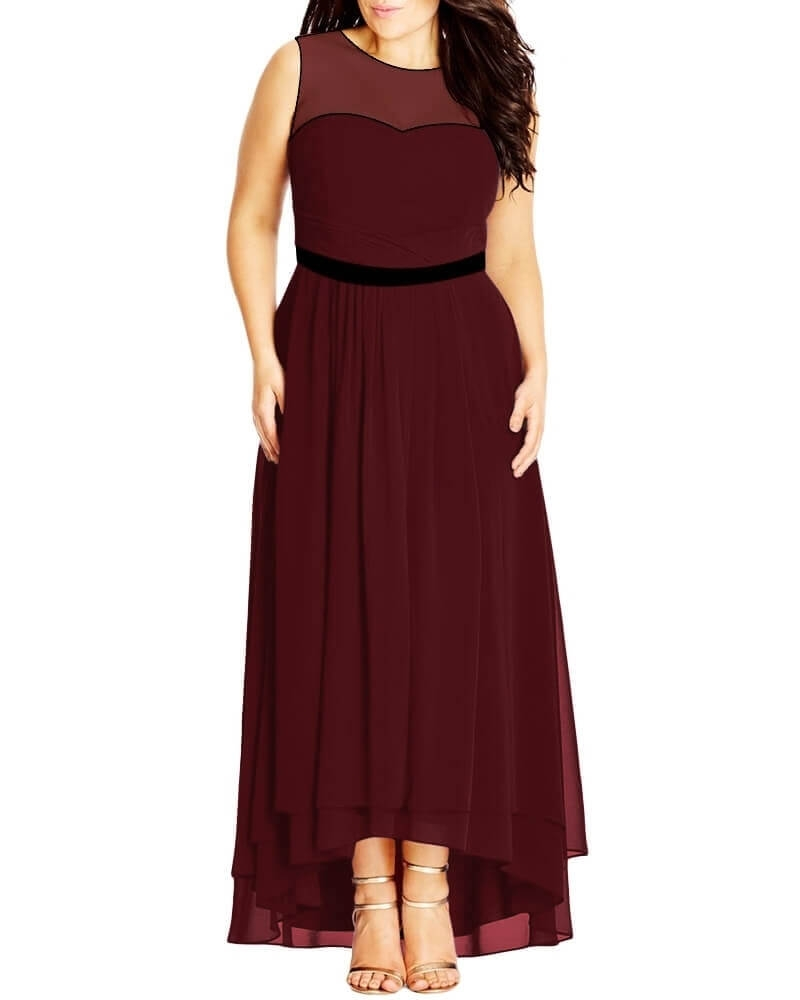 Jewel Encrusted Band Maxi Dress