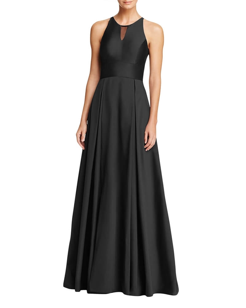 Classic Fit and Flare Cocktail Gown Black
