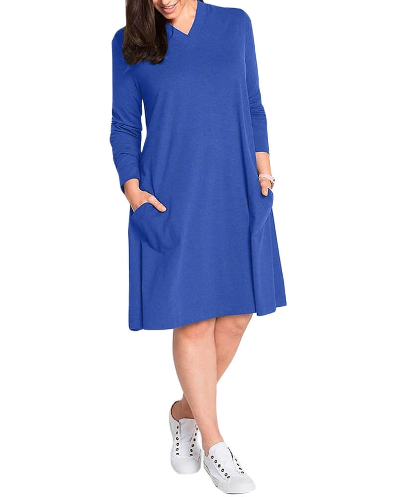 Debonair T Shirt Style Chic Shift Dress