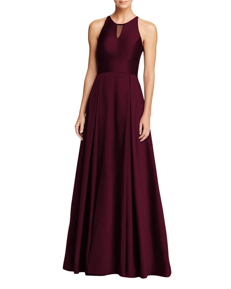 Classic Fit and Flare Cocktail Gown