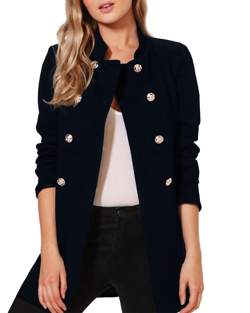 Jade Military Navy Jacket for Women