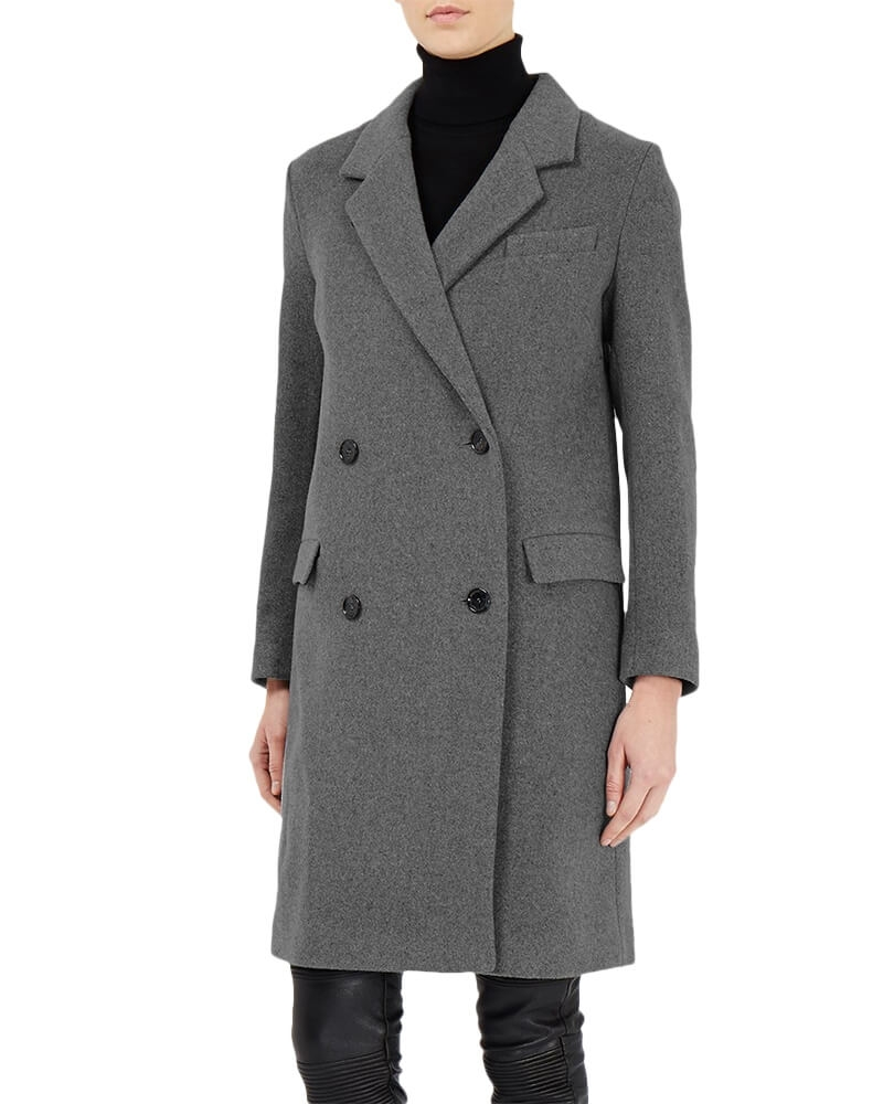 Stylish Grey Trench Coat for Women