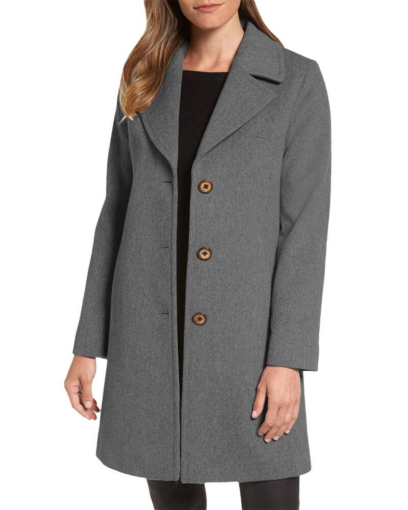 Classic Grey Womens Top Coat