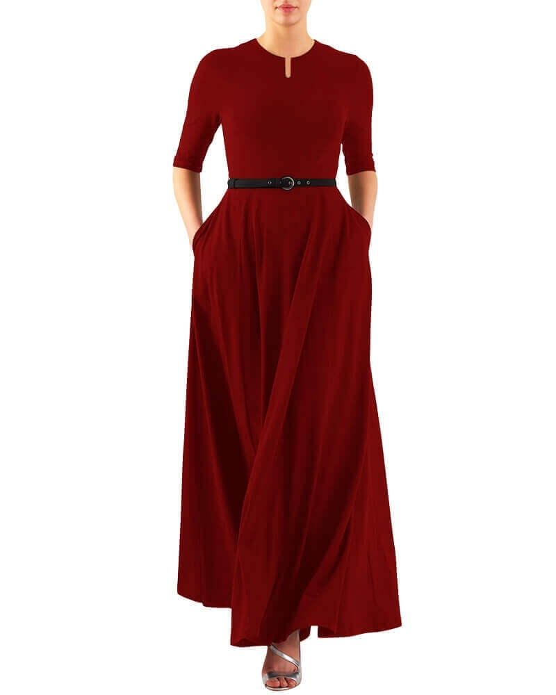 HEATHER LONG DRESS RED