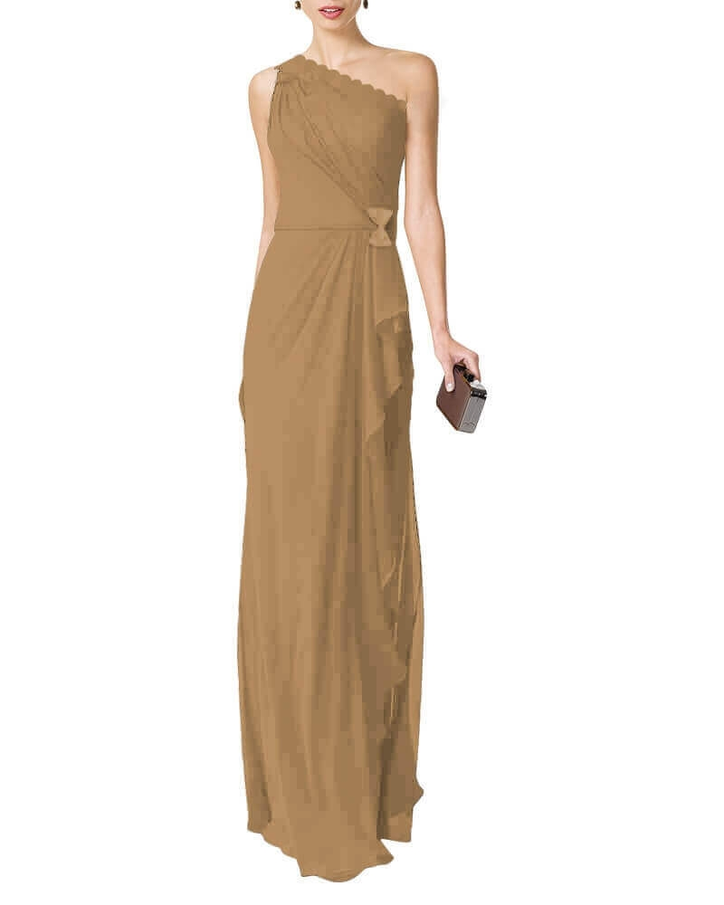 Anastasiya draped dress Beige