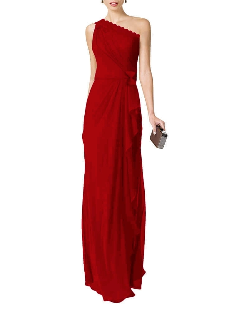 Anastasiya draped dress Red