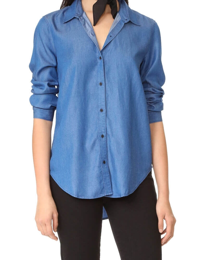 Semi Formal Denim Shirt for Women