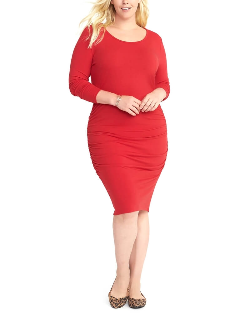 Ravishing Red Slim Fit Stealth Dress