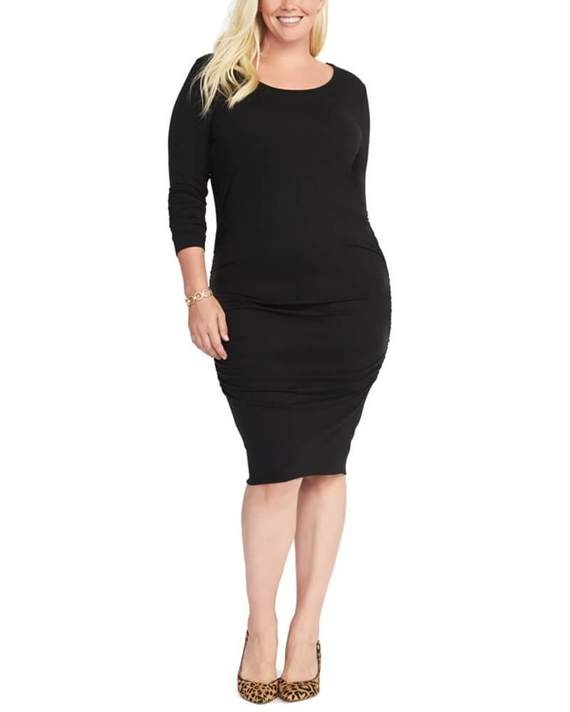 Stunning Solid Black Slim Fit Stealth Dress