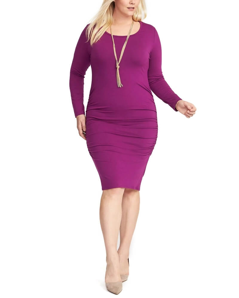 Adorable Purple slim fit bodycon Stealth dress
