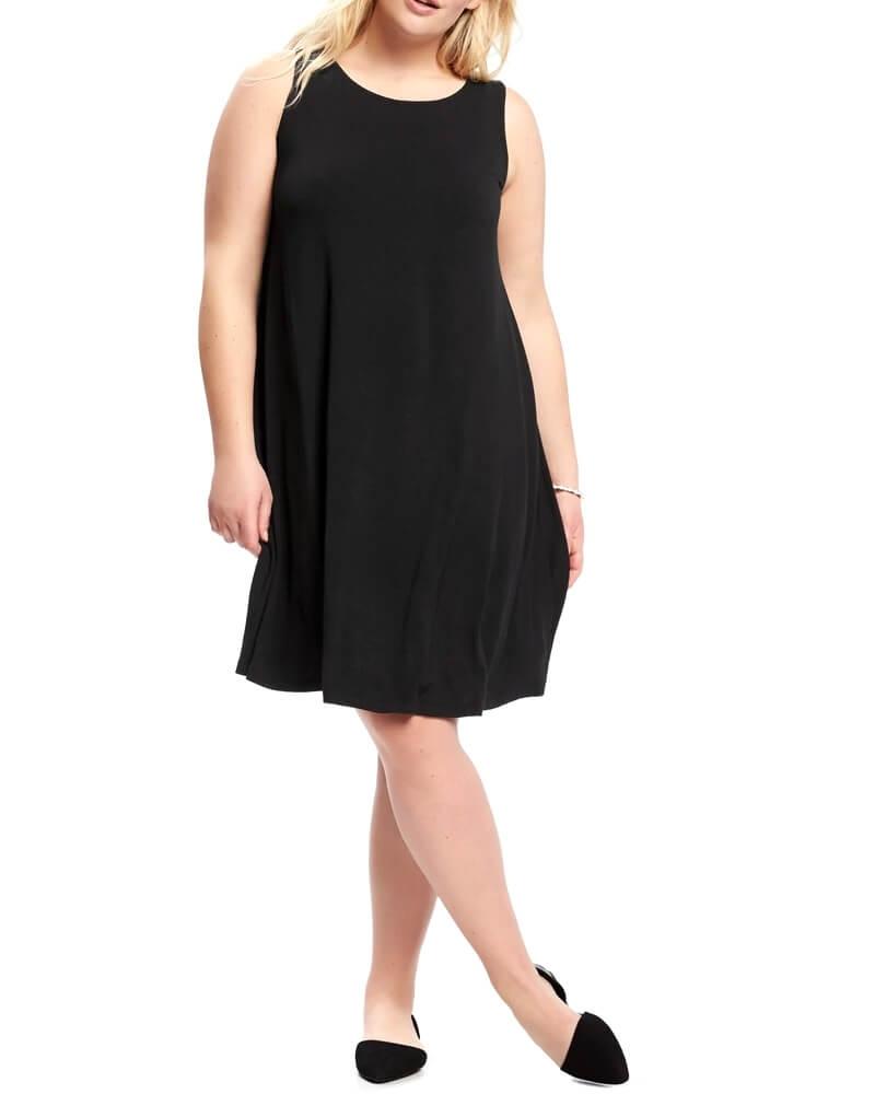 Solid Black Little Flare Women Dress