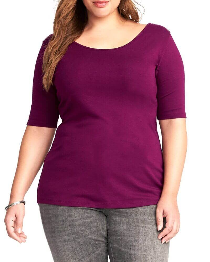 Comfy Purple Slim Fit Top