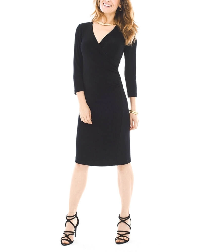 Bold Black Slim Fit Little Black Dress