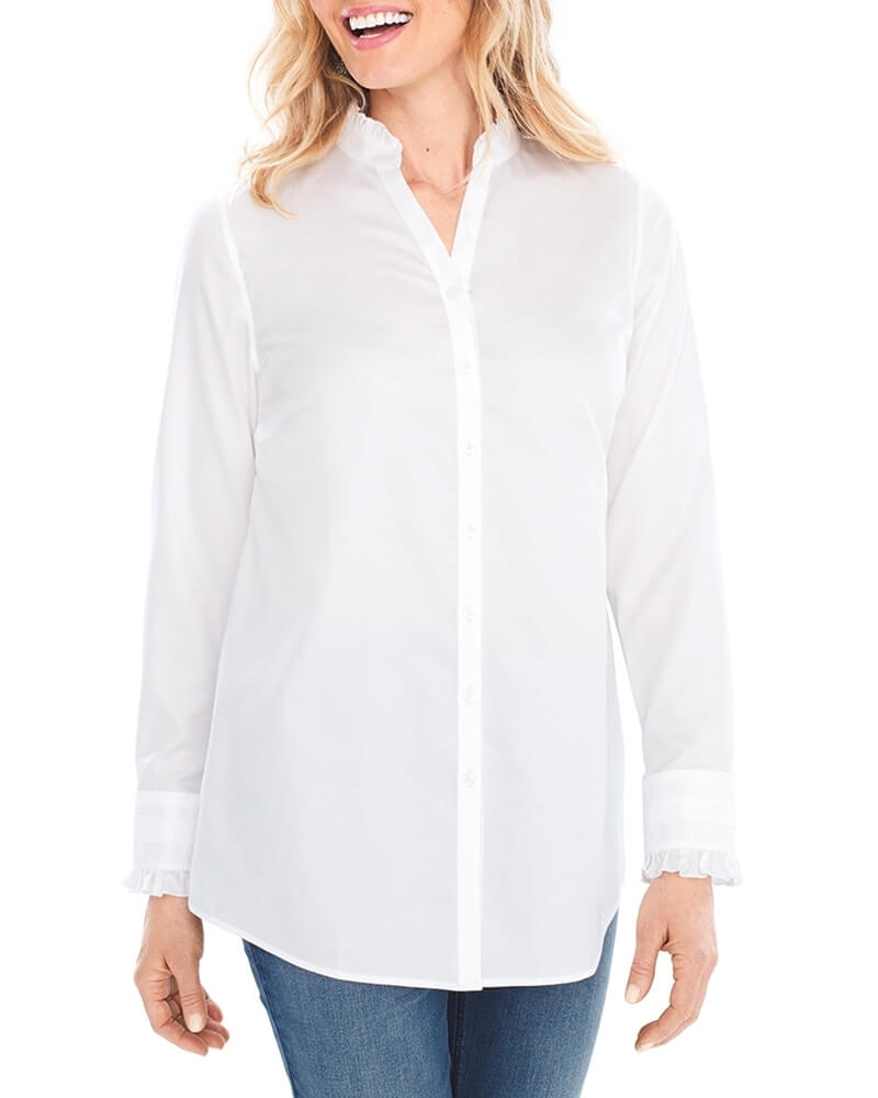 Wacky White Cotton Shirt for Women