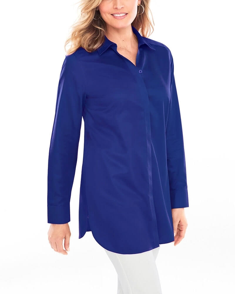 Blissful Blue Formal Womens Shirt