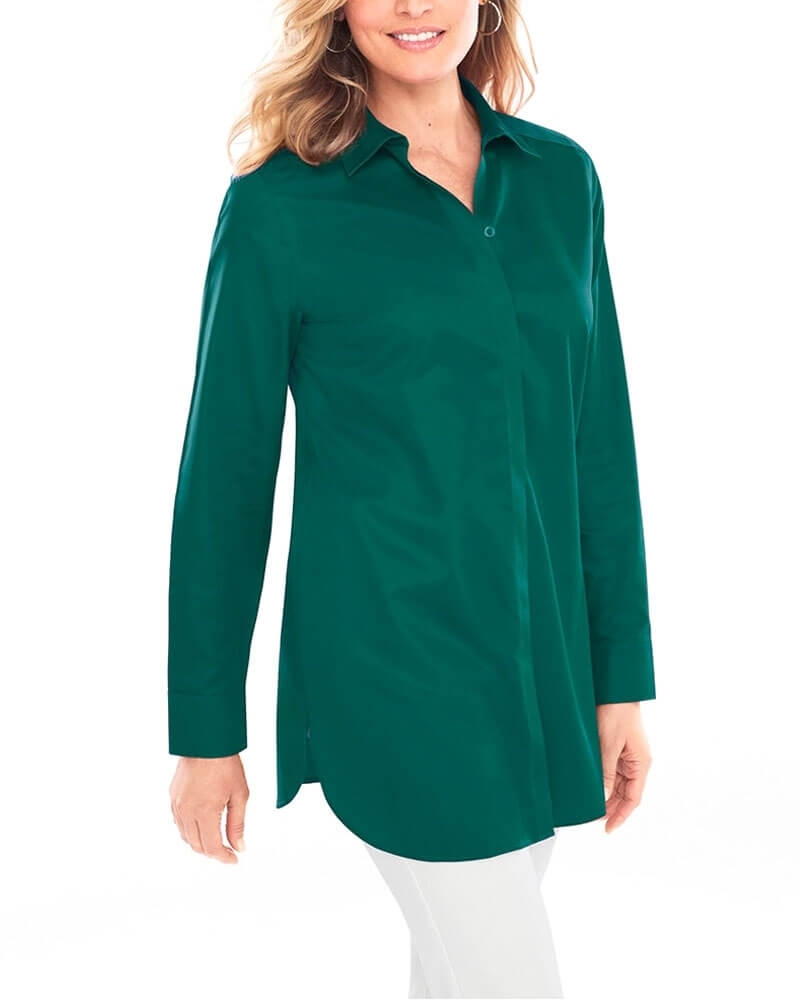 Sober Teal Green Formal Womens Shirt