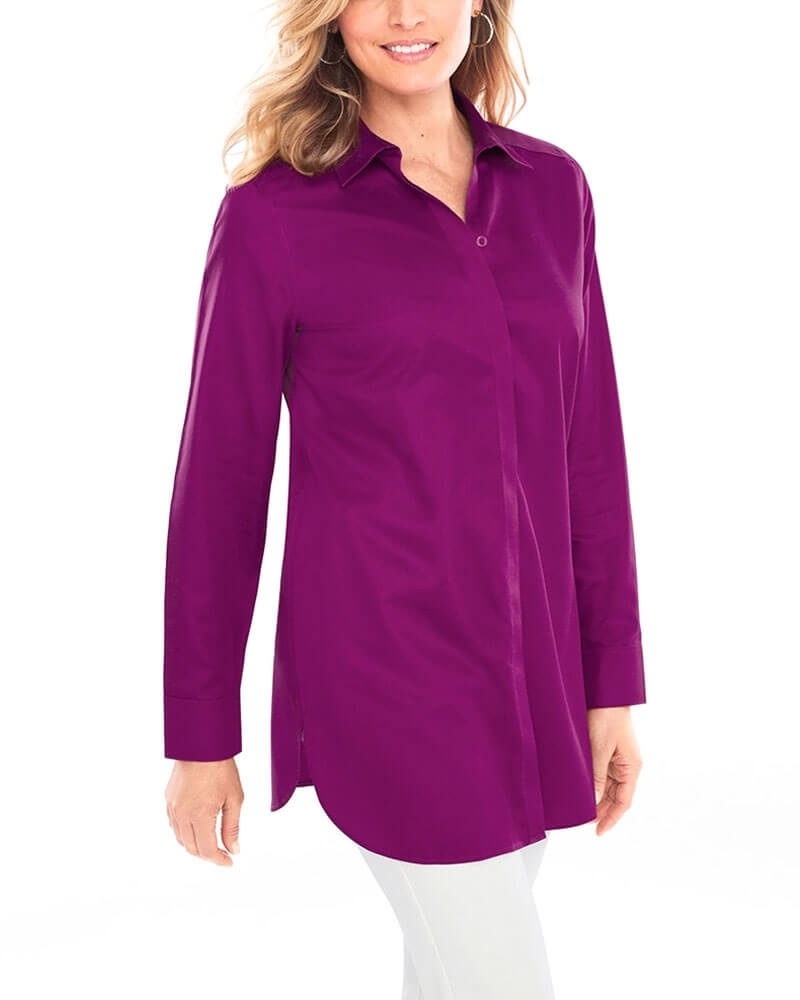 Ideal Purple Formal Womens Shirt