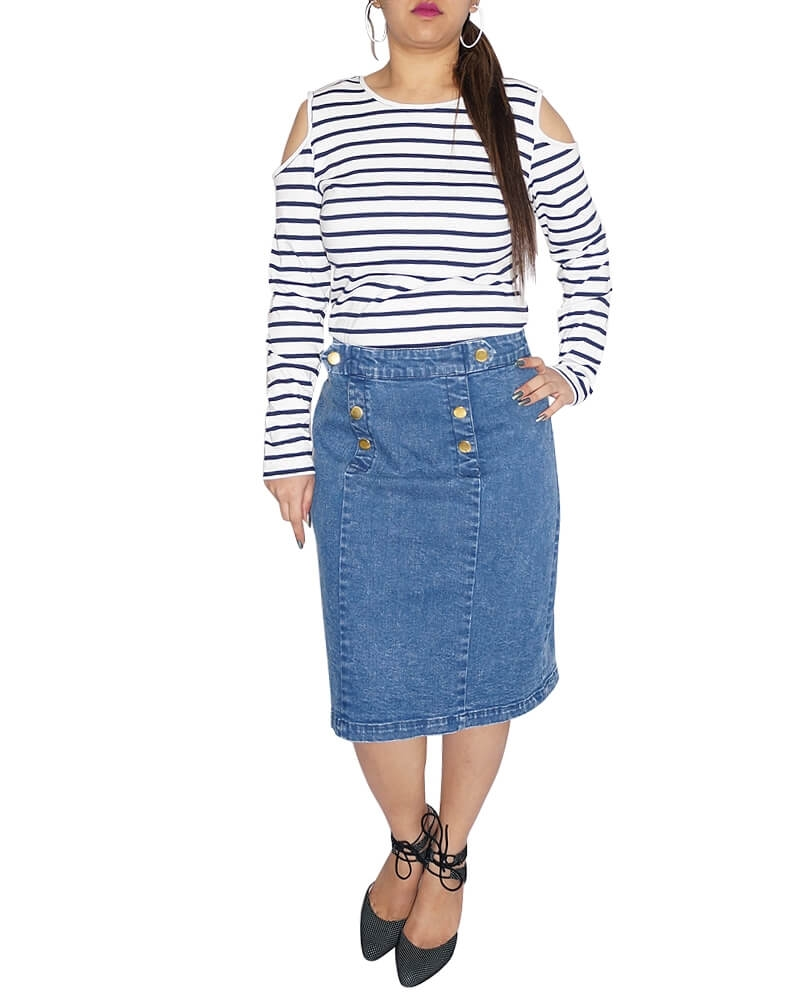 Ackard A line denim skirt