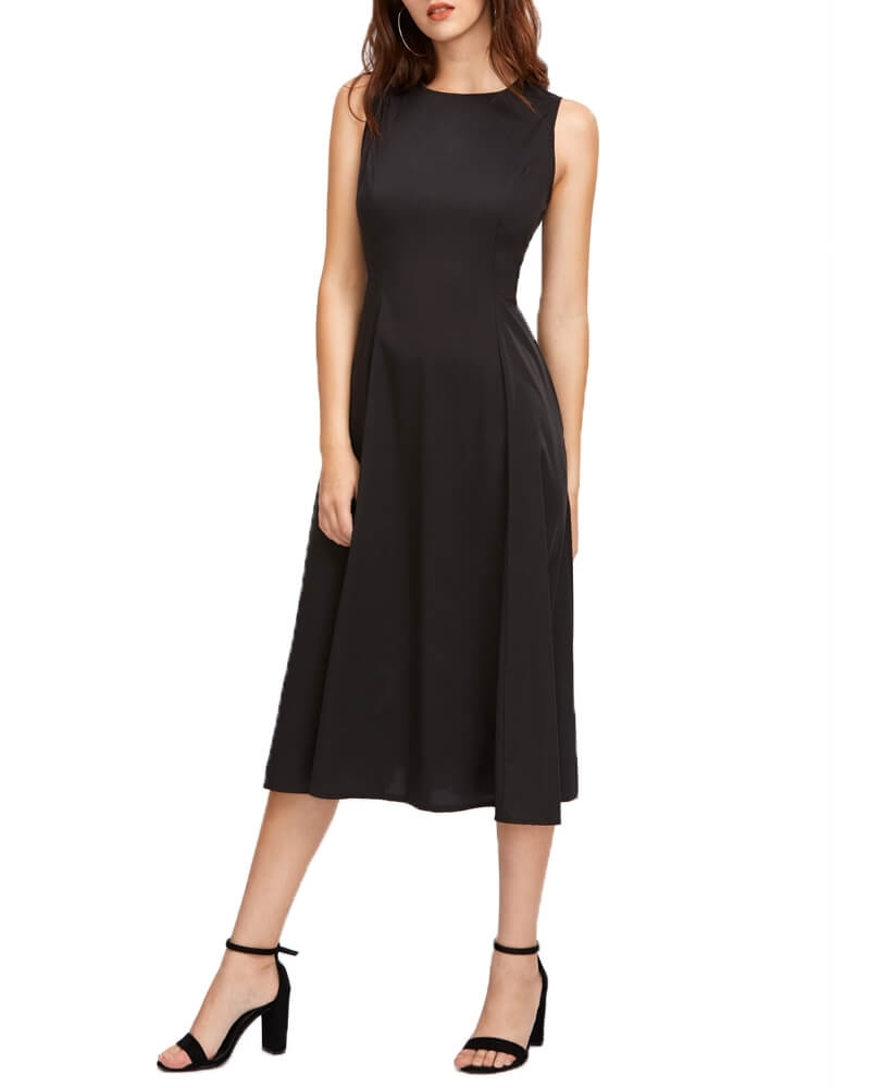 Sleeveless Fit And Flare Swing Dress