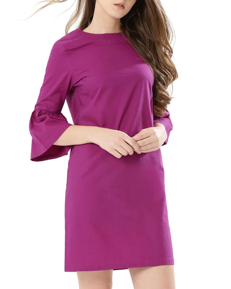 Stylish Bell Sleeved Shift Dress