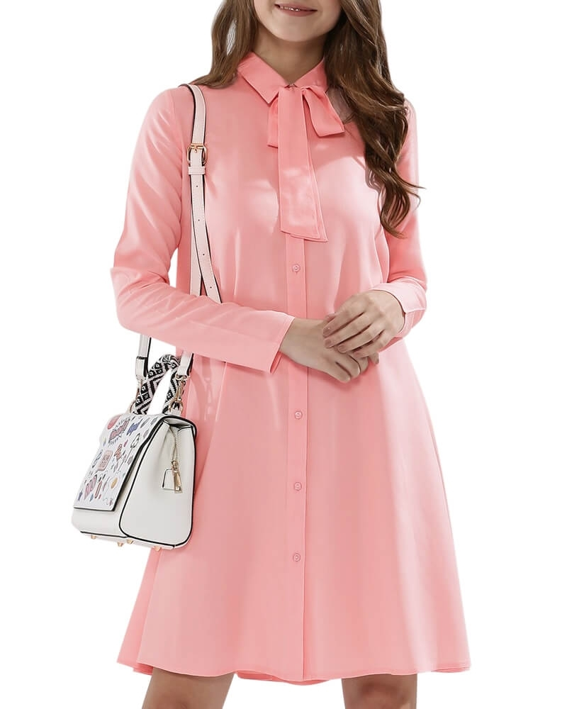 Adorable Shift and Swing Dress with Bow